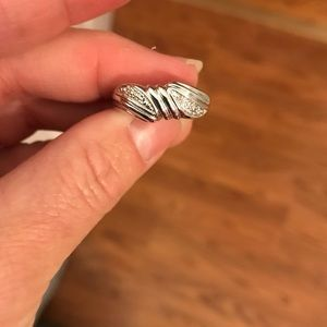 Jewelry - SALE Sterling Silver 925 Ring CZ detail